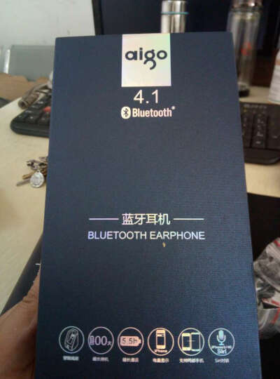 爱国者(aigo) X6车载蓝牙耳机立体声音乐无线挂耳塞式入耳运动苹果华为小米手机通用 黑色 晒单图