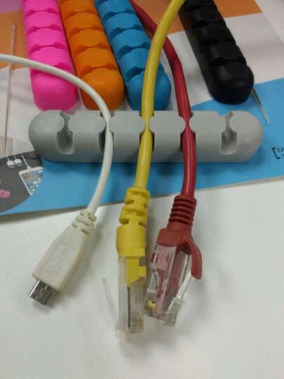 奥睿科(ORICO) 绕线器数据线缠线器电脑桌面理线器电线固线器耳机线收线夹 CBS5-5口5色套装 晒单图