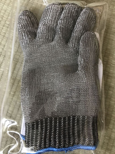 厚创防割手套屠宰杀鱼服装裁剪防切伤防护钢丝手套不锈钢劳保手套 一只装 长款 晒单图