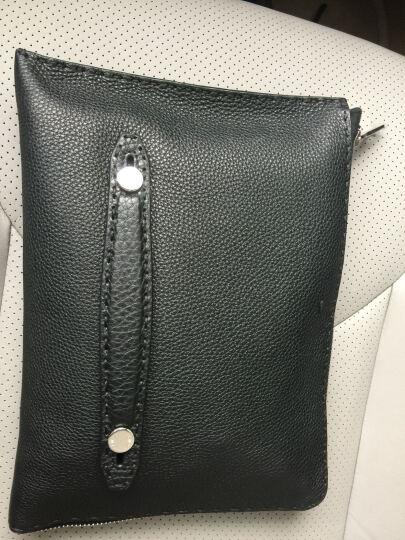 FENDI 芬迪 【商品自带包装盒】 男士黑色牛皮手拿包 7M0225 NDU F0QA1 晒单图
