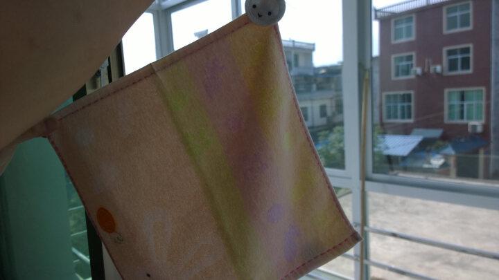 意婴堡(HEEBOO) 婴儿毛巾口水巾宝宝小方巾洗脸毛巾竹纤维纱布纯棉新生儿用品 竹纤维小毛巾2条装50*25粉色和黄色 晒单图