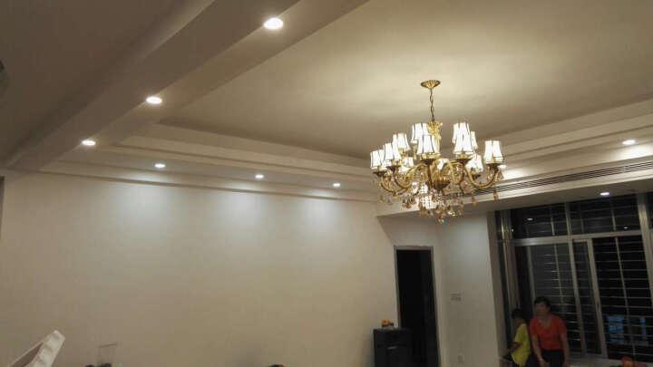 世源 全铜吊灯客厅欧式铜灯美式水晶灯餐厅蜡烛灯具PL7557 两室一厅套餐A-送整套光源(套餐以赠品形式体现) 晒单图