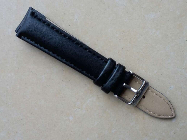 IIKTWOK手表皮带配件 男女士手表皮革表带 通用针扣手表表带 1023L--黑色-18MM 晒单图