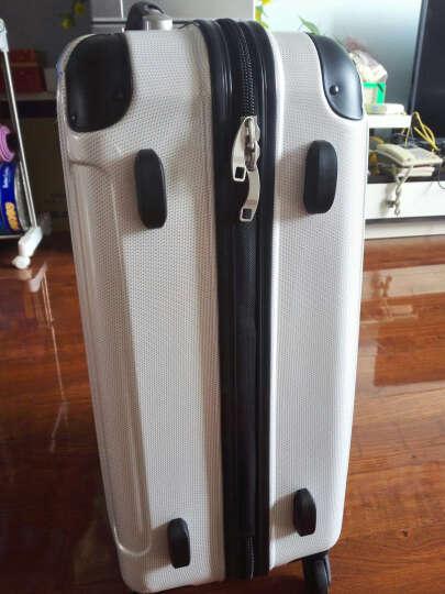瑞动(SWISSMOBILITY)拉杆箱PC+ABS轻盈大容量旅行箱行李箱24英寸万向轮MT-5555-38T00白底金银布纹 晒单图