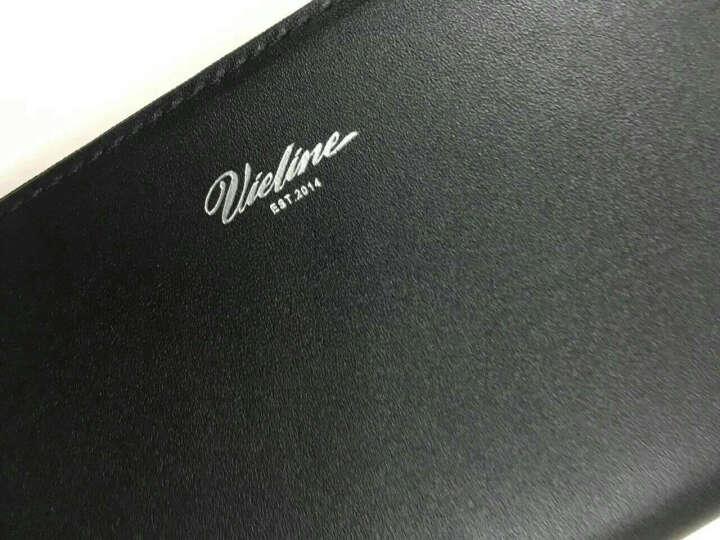 VIELINE/薇菱【设计师品牌】男士钱包长款拉链青年手包真皮多卡位大容量手拿包男钱包M001 黑色铆钉款 晒单图
