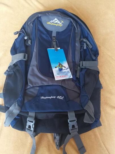户外尖锋(HU WAI JIAN FENG) 户外旅行背包男女登山包大容多功能双肩包书包 黑色 晒单图