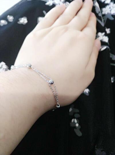 雅宝福 Pt950铂金手链白金手镯手链 女款 圆珠手链 约2.71-2.8g链长165-185mm 晒单图