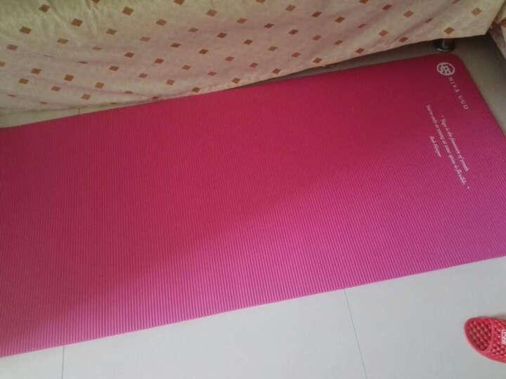 弥雅 瑜伽垫185*80cm 加长加宽加厚健身运动垫子 10mm基础款 玫红色 晒单图