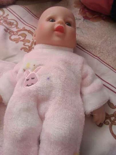 神秘岛婴儿娃娃仿真全软胶宝宝会说话的洋娃娃智能家政早教亲子安抚睡眠儿童女孩玩具 粉色兔子50CM12声 晒单图