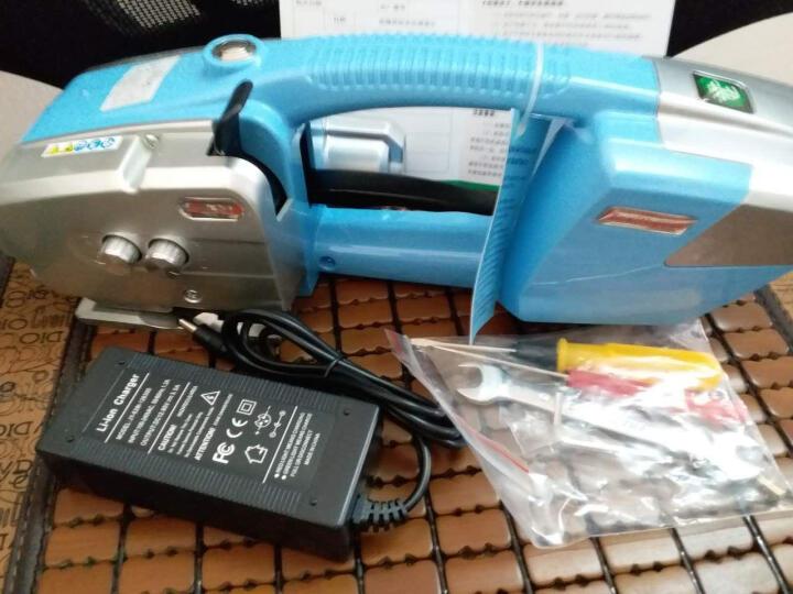 逸飞手提式电动打包机 PET塑钢带全自动捆扎器木箱水泥板打包器储电式热熔打包机免扣打包机 JD13/16打包机+塑钢带一卷 晒单图