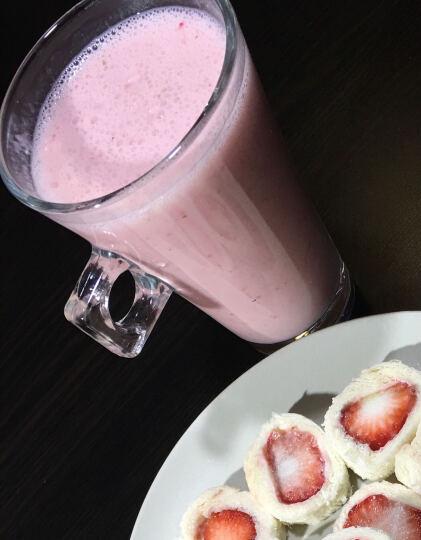 思乐谊(SANOE) B102榨汁机 便携迷你 家用 榨汁杯 果汁 搅拌 奶昔 研磨电动 红色 晒单图