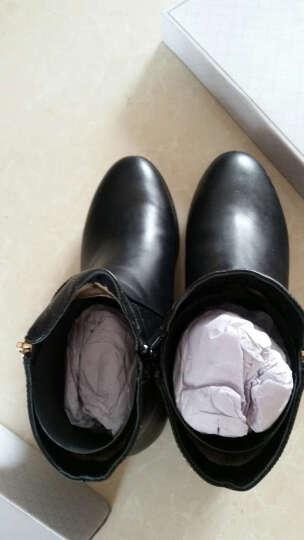 Tata/他她冬季专柜同款酒红色小牛皮女靴(绒里)2YWB1RD5 黑色 35 晒单图