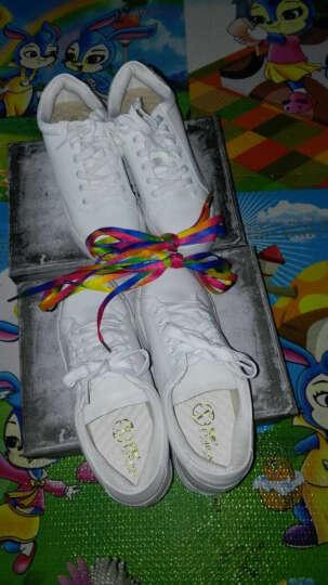 毅雅秋季新款休闲鞋 舒适透气休闲平底小白鞋女单鞋 多色可选 厂家直销 1471 爱心白色 37码 晒单图