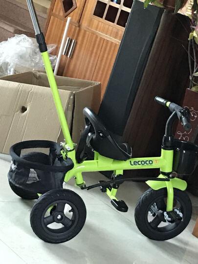 乐卡(Lecoco)儿童两用三轮车 三轮宝宝推车 多功能婴儿脚踏车 尼诺二代免充气钛空轮芥末绿 晒单图