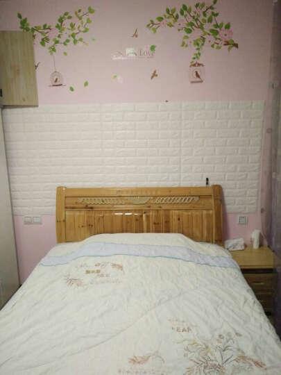 梦雅莉(mengyali) 3D砖纹墙贴纸立体自粘创意电视背景墙客厅画卧室装饰防水墙面 粉 红色 大号(70*77cm) 晒单图