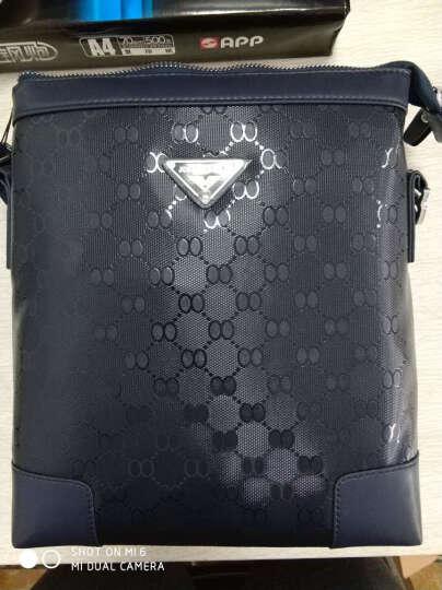 男包单肩包男士休闲男包包斜挎包时尚商务潮流背包手提包 蓝色 晒单图