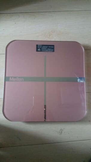 【京东配送】Meilen称重电子秤人体秤体重秤家用精准电子称健康秤 玫瑰金 晒单图