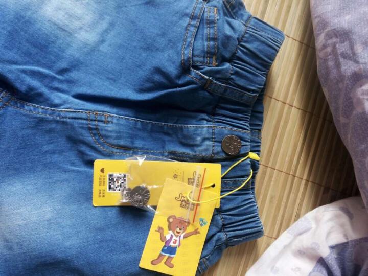 杰米熊 JMBEAR 牛仔裤 男中童休闲牛仔七分裤 872515306 牛仔兰 150 晒单图