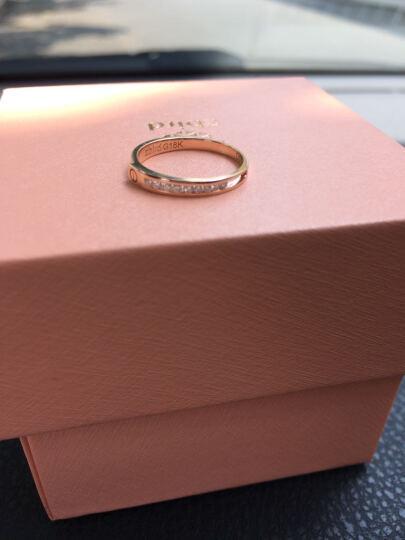 钻石小鸟 Zbird 18K金钻石戒指-订婚结婚情侣钻石对戒-玫瑰诺言-男款-18号手寸 晒单图