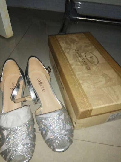 LESELE/莱思丽夏季新款欧美时尚搭扣牛皮女凉鞋KE71-LB1387 金色 35 晒单图