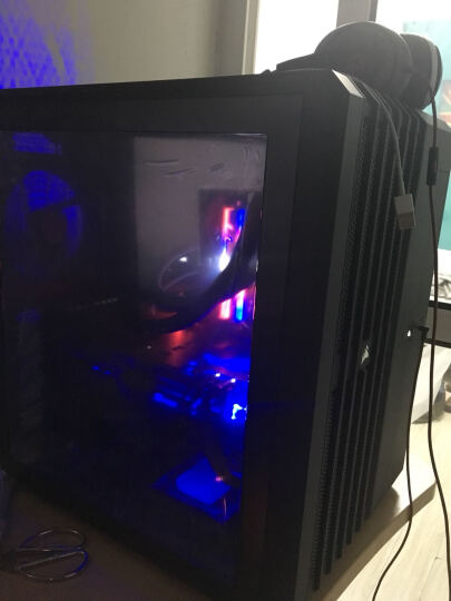 美商海盗船(USCORSAIR) AIR540中塔侧透明游戏组装主机散热电脑台式水冷机箱 银黑色 晒单图