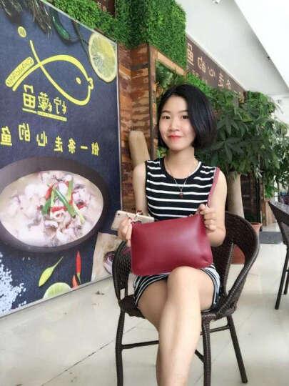 包薇尔斜挎包 女 小包韩版学生女包单肩包休闲牛皮手拿包信封包 玛瑙红 晒单图