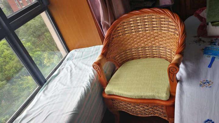 祥藤富竹 藤椅子茶几三件套阳台桌椅客厅休闲椅咖啡桌椅组合酒店会所家具 椅子 晒单图