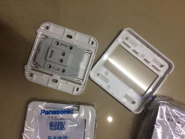 松下(Panasonic) 86型开关插座 10A五孔插座智趣套餐八只装 WQXC601(雅白色) 晒单图