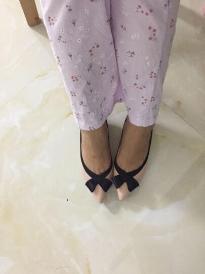 JoyPeace真美诗春季专柜同款时尚简约可爱蝴蝶结女猫跟单鞋ZR711AQ6 深兰色 34 晒单图