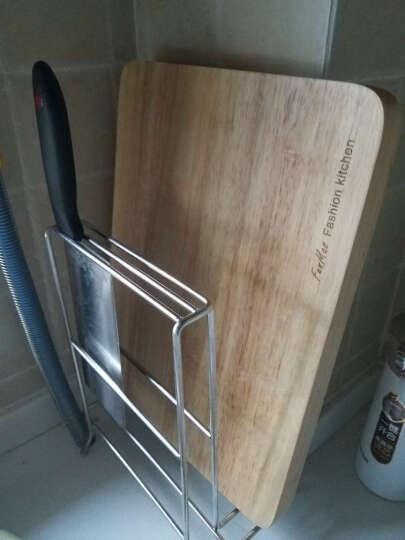 佳适宝 不锈钢锅盖架子沥水架收纳刀架厨房置物架 CH301008银色 银色 置物架 晒单图