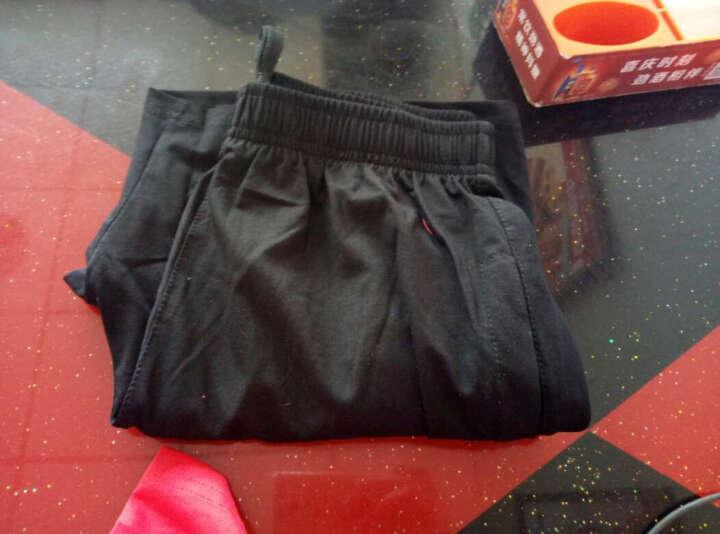 SBVA 休闲运动套装男女情侣长款大码套卫衣棉质跑步服两件套 黑/绿-女款 M 晒单图
