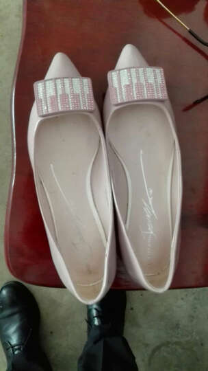 卓诗尼新款蝴蝶结浅口平底软底舒适单鞋女休闲鞋女工作鞋 驼色 36 晒单图
