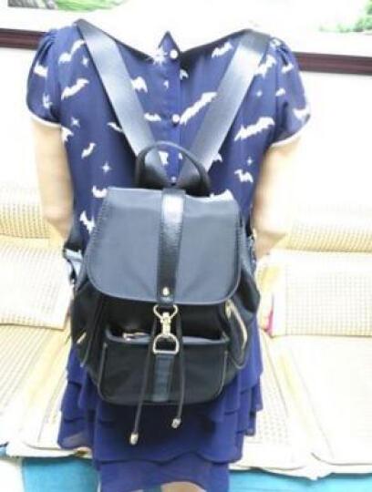 GOLF双肩包女新款时尚防水锦纶女士新品背包女新款多功能耐磨女包 紫色 晒单图