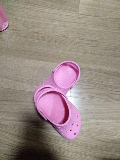 Crocs卡骆驰童鞋 儿童瑞伦小克骆格塑模洞洞鞋男女童宝宝鞋沙滩凉鞋/15908 桃红-670 21(120mm) 晒单图