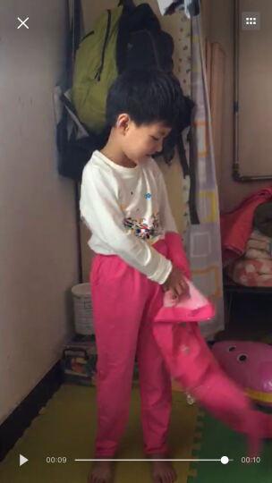 吉娃王子 2019新款童装女童套装秋季三件套儿童春秋运动装韩版女孩大童衣服 玫红色 150码(适合136-145cm) 晒单图