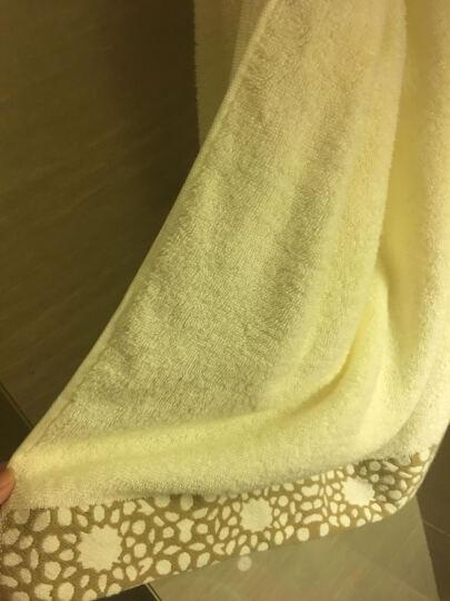 三利 纯棉色织提花方巾/毛巾/浴巾礼盒3件套 绀青色 晒单图