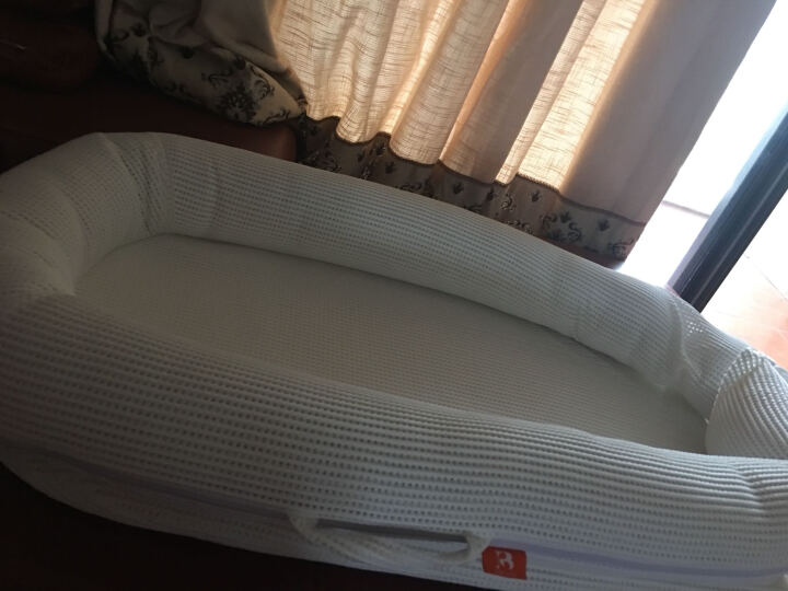 Bibilove便携式婴儿床欧式床中床婴幼儿床垫宝宝睡篮新生儿用品 奶酪白 晒单图