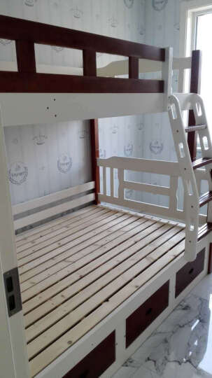 童梦 全实木可拆分高低床 实木子母床上下床 母子床小孩床儿童高低床表面全无节疤 原木色 上1米下1.35米 晒单图