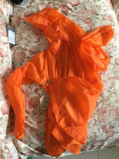 莉塔罗莎防晒衣女外套2018夏季新款宽松中长款纯色棒球服大码女装薄开衫女 桔红色7 XXL(适合130-145斤) 晒单图