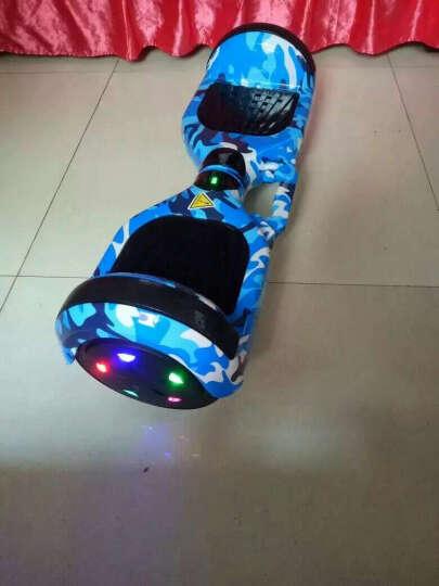傲凤(AOFENG) 傲凤 儿童平衡车 双轮成人电动代步车两轮智能体感漂移车思维车 6.5吋LED轮毂跑马灯/手提式-迷彩蓝 晒单图