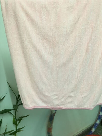 毛毛雨浴巾女式浴裙干发毛巾套装抹胸性感浴衣 粉蓝拼色 浴裙80*143cm 晒单图