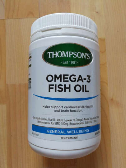 新西兰Thompson's汤普森 深海鱼油软胶囊400粒适合三高人群 晒单图