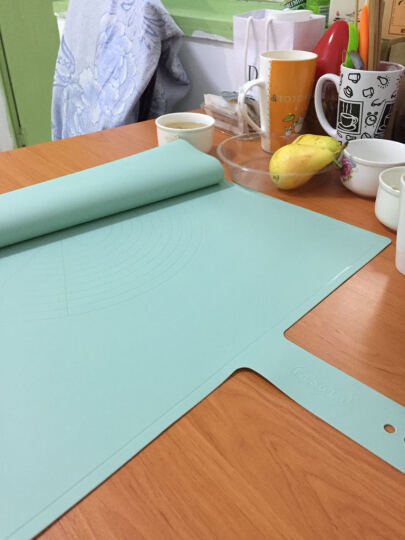 FaSoLa FASOLA硅胶揉面垫大号加厚厨房加厚防滑不粘案板和面板柔软擀面垫 橄榄绿 晒单图