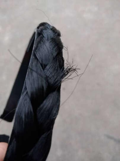 时尚饰品韩版发饰头饰 麻花假发发箍压发条宽发卡发夹发带宽边头箍发饰女欧美 3#黑色 晒单图