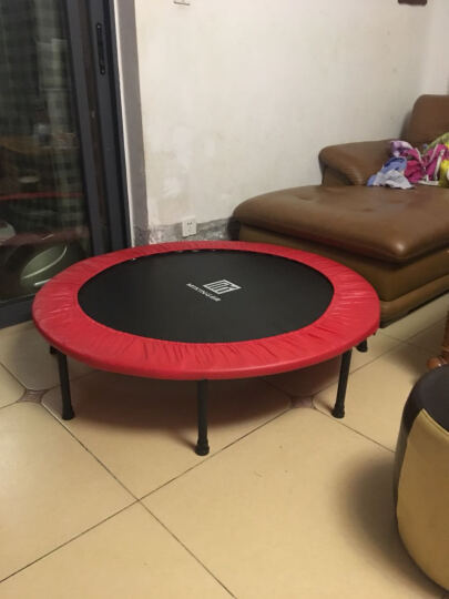 迈康(MIKING) 蹦蹦床儿童成人跳跳床家用室内小孩子宝宝弹跳床48英寸四折叠健身器材 红色(直径1.21米) 晒单图