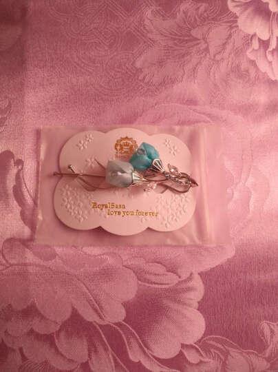 皇家莎莎边夹刘海夹发饰手工立体花朵发卡少女一字夹子头饰优雅发夹八字夹 晒单图