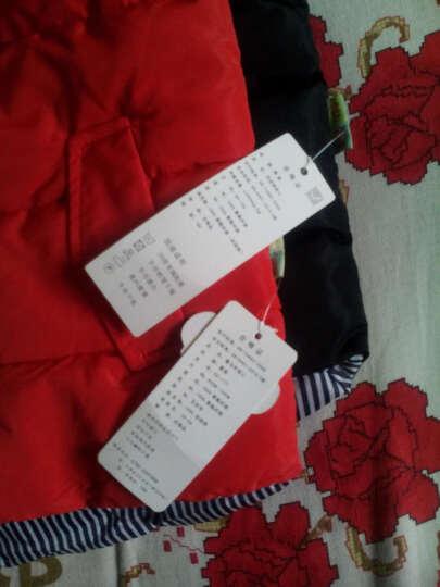 YH儿童羽绒服棉服羽绒背心马甲冬季新款高绒宝宝羽绒服马甲棉服 1718红色 130 晒单图