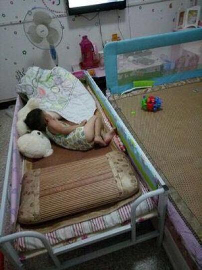澳力思 折叠床带护栏床加宽铁床架家用组合床男女小孩床单人简易 蓝色款 长155*宽70【床架】 晒单图