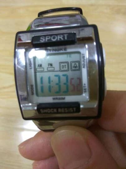 时诺刻(Synoke)儿童手表男孩 女孩闹钟防水夜光多功能电子表男女小学生小孩手表方形 99569蓝色 晒单图