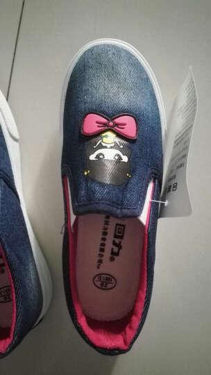 回力女孩帆布鞋牛仔布一脚蹬单鞋蝴蝶结女童休闲鞋子儿童布鞋 浅蓝色 30码/200/内长约19cm 晒单图